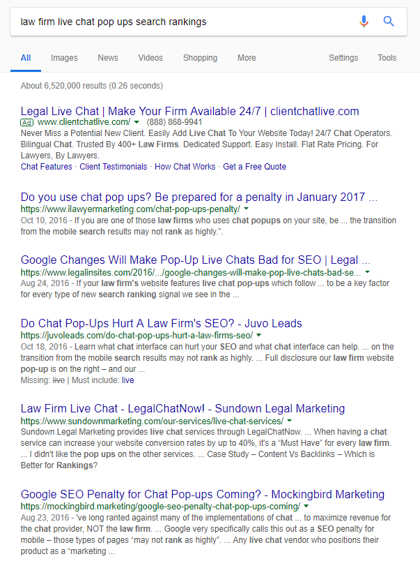 Google policy and law firms